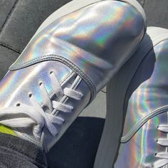 Holo! @simplynotlogical #holo #holographic #holographicshoes #holoshoes… •✧ want to see more pins like this? then follow pinterest: @ʜᴏᴅᴀʏᴀʙᴇ13✧•