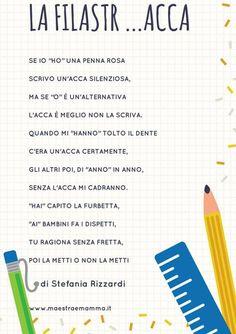 Filastrocca verbo avere Teaching Math, Teaching Resources, School Template, Italian Lessons, Italian Words, Italian Language, Learning Italian, Christian Parenting, Primary School