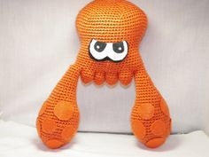 Splatoon Squid Plush, Wii U Game Splatoon Squid Character Doll, Squid From Splatoon Stuffed Animal, Squid Plushie, by KnottedTwists on Etsy