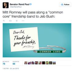 KY-Sen: EPIC FAIL! Rand Paul (R) Misspells 'Frienship' In Snarky Tweet On Education Reform | THE POLITICUS