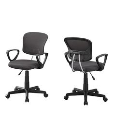Look what I found on #zulily! Gray Mesh Ergonomic Adjustable Office Chair by Monarch Specialties #zulilyfinds