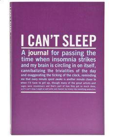 I cant sleep....
