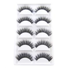 2017 New 5 Pairs Luxurious 3D False Eyelashes Makeup Handmade Thick Fake Eye Lashes Extension Tools Make Up False Eyelashes