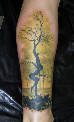 Dryad tattoo by Zhivko Baychev