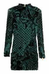 H&M X Balmain emerald velvet dress would be soo perfect for New Years! Tight Long Sleeve Dress, Long Sleeve Fitted Dress, Dress Long, Trendy Dresses, Tight Dresses, Nice Dresses, Fitted Dresses, Short Dresses, Green Cocktail Dress