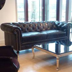 Vintage Black 3 Seater Chesterfield : Beau Decor - Vintage Glam !