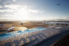 The TWA Hotel at New York's JFK Airport is getting a rooftop infinity pool, including a pool bar and views of planes taking off and landing. Jacuzzi, Infinity Pools, Infinity Edge Pool, Eero Saarinen, Antibes, World Trade Center, Kennedy Airport, Hotel Gast, Times Square