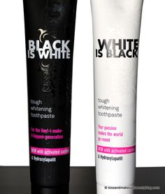 Review (Curaprox Black Is White & White Is Black tough whitening toothpaste with activated carbon) (2)
