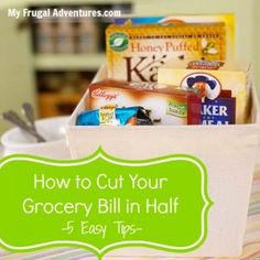 5 Easy Tips to Cut Your Grocery Bill in Half