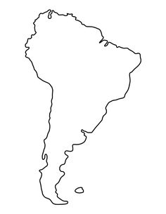 Use the printable outline for crafts, creating stencils, … - South America South America Continent, Columbia South America, South America Map, Free Printable World Map, Templates Printable Free, String Art Templates, Map Tattoos, Maps For Kids, Socialism