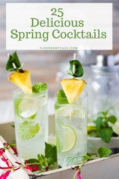 25 Delicious Spring Cocktails Spring Cocktails, Refreshing Cocktails, Summer Drinks, Ginger Cocktails, Vodka Drinks, Non Alcoholic Drinks, Sage Recipes, Herb Recipes, Cocktail Party Food