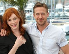 Christina Hendricks and Ryan Gosling during a photo call for 'Lost River' at the 67th International Film Festival, Cannes