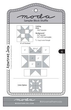Fort Worth Fabric Studio: Moda Sampler Block Shuffle {Block 6}