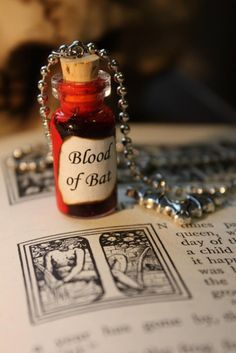 Glass Vial Necklace - Halloween Blood