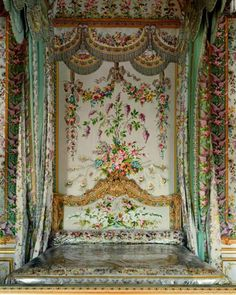 Marie Antoinette's bedroom. Versailles.