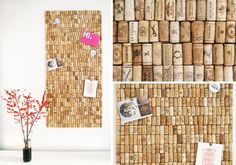 Recycled Cork Board Collage