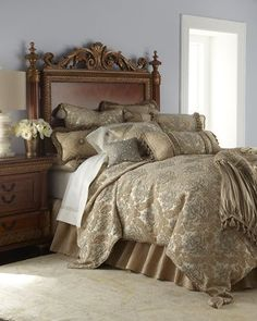 -4HNE Dian Austin Couture Home   King Florentine Brocade Duvet Cover Queen Florentine Brocade Duvet Cover