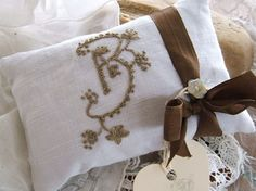 French Linen with Monogram B