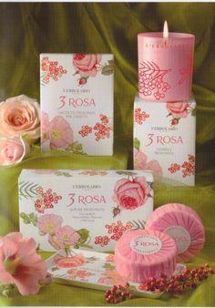 Candela  profumata 3 Rosa