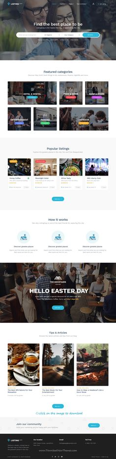 ListingEasy is clean and modern design 2in1 responsive #WordPress theme for #directory #listing services website to download 👉click on image.