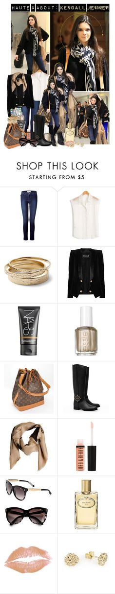 """""""Haute & About: Kendall Jenner"""" by dylanstasia ❤ liked on Polyvore featuring JFK, Vanessa Bruno Athé, White House Black Market, Balmain, NARS Cosmetics, Essie, Louis Vuitton, Tory Burch, Balenciaga and Lord & Berry"""