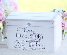 Sweet Keepsake or Wedding Card Box - also perfect for the Wine Box, Love Letter Ceremony!                                                                                                                                                                                 More