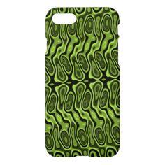 Abstract Green Splotch/Blob Pattern Phone Case