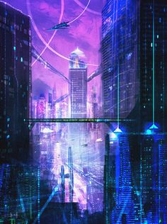Future City concept sketch 2 by iDaisan