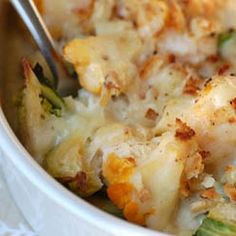 Cauliflower and brussel sprouts gratin - love these two veggies together!