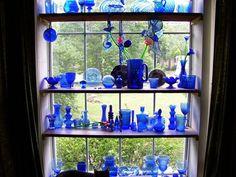 Cobalt blue....love blue glass