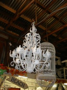 White Chandelier - Second Chances Barn