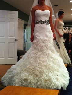 My dress with a different sash - Enzoani Gloria