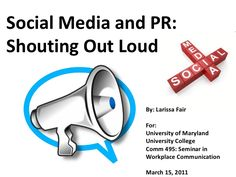 A comprehensive overview of the intersection of PR and social media, including tips, examples and resources for marketing communications professionals on using… Most Popular Social Media, Social Media Site, University Of Maryland, Workplace, Communication, History, Office Workspace, Historia, History Activities