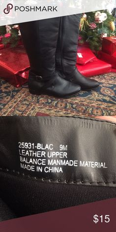 Black boots Great condition! Never worn. Size 9 but fits more like an 8.5. Shoes