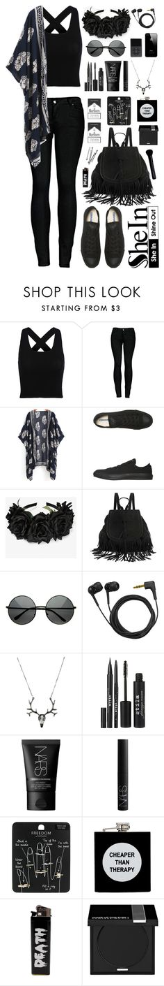 """SheIn"" by scarlett-morwenna ❤ liked on Polyvore featuring 2LUV, Converse, Sennheiser, Stila, NARS Cosmetics, Topshop, ASOS, MAKE UP FOR EVER, Givenchy and BOBBY"