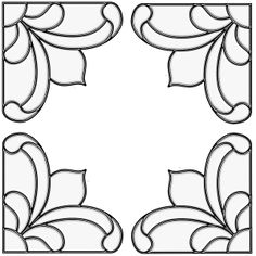 Victorian Corners - Stained Glass Window Cling