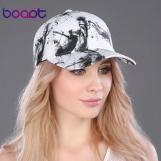 BOAPT 100% cotton luxury painted colored vintage female summer caps travels hat women's hats snapback male casual baseball cap