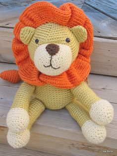 Lion réalisé au crochet  Design: Freshstitches.com