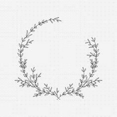 Circle Monogram, Monogram Frame, Kranz Tattoo, Flower Svg, Flower Circle, Flower Frame, Embroidery Flowers Pattern, Embroidery Art, Embroidery Stitches