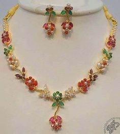 Design no. 1600 - Online Shopping for Necklaces by chaahat fashion jewellery Silver Jewellery Online, Gold Jewellery Design, Gold Jewelry, Branded Jewellery, India Jewelry, Gold Necklaces, Fashion Jewellery, Ruby Necklace Designs, Gold Mangalsutra Designs