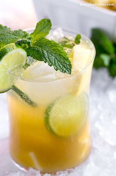Sip on a cocktail that's practically a vacation in a glass. Unsweetened pineapple juice and fresh muddled mint are combined to create this über-delicious, not-too-sweet, pineapple fizz cocktail!