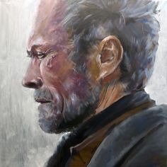 Clint by Marcos Cañada, oil on canvas.