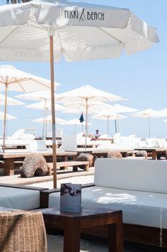 Calvin Klein brochure on display at Nikki Beach throughout the summer season in Marbella and St. Tropez