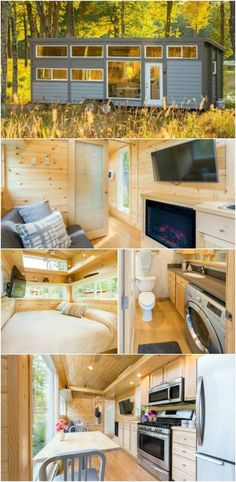 344 Square Foot Tiny House Sleeps EIGHT in Luxurious Comfort - The Traveler XL by Escape Traveler proves all the nay-sayers wrong when it comes to whether or not tiny houses can be suitable for a large family. This 344 square foot tiny house on wheels prove that's it not only suitable but also comfortable and luxurious! Built on a 30-foot long trailer, this tiny house has room for up to eight guests to sleep and comes packed full of amenities and high-end finishes starting at $78,500.