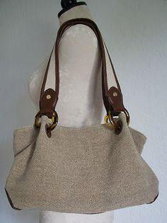 RELIC Brown Burlap Look Handbag Purse $25