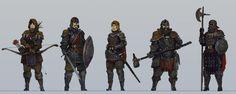 Medieval character concepts, KJ Kallio on ArtStation at https://www.artstation.com/artwork/medieval-character-concepts