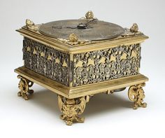 Johann Sayller (Germany, Ulm, active 17th century) Germany, circa 1650 Furnishings; Accessories Gilt-brass, silver, leather