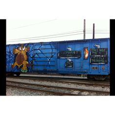 Best train graffiti ever!!