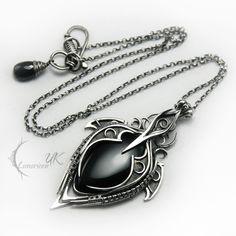 LUNTIRMAX - silver , black onyx and spinel by LUNARIEEN.deviantart.com on @deviantART