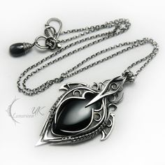 LUNTIRMAX - silver , black onyx and spinel by LUNARIEEN.deviantart.com on @deviantART
